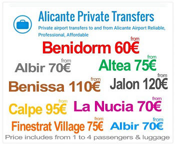 Alicante Airport Private Transfer to Pilar de la Horadada