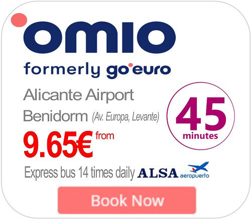 Alicante Airport Express ALSA Bus to Benidorm