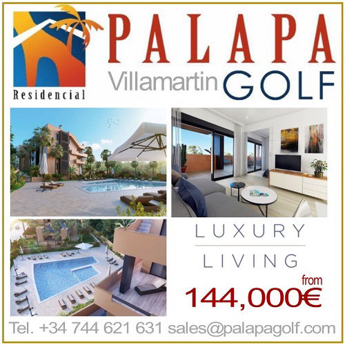 PALAPA GOLF Villamartin, Alicante. New development of luxury apartments.