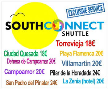 Click to book direct with SOUTH CONNECT SHUTTLE to  Ciudad Quesada