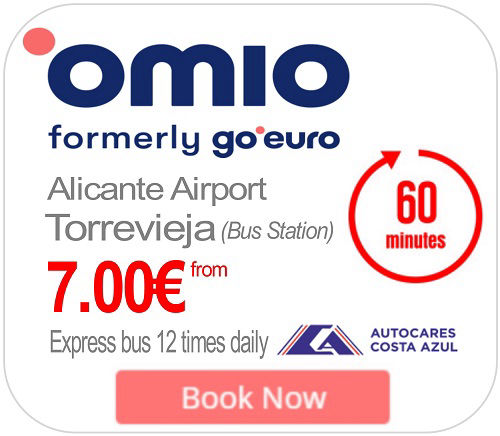 Alicante airport transfer BUS to Torrevieja