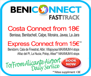 beniconnect Alicante airport transfers to/from Benissa, Benitachell, Calpe, Javea and La Jara near Denia. From 15�